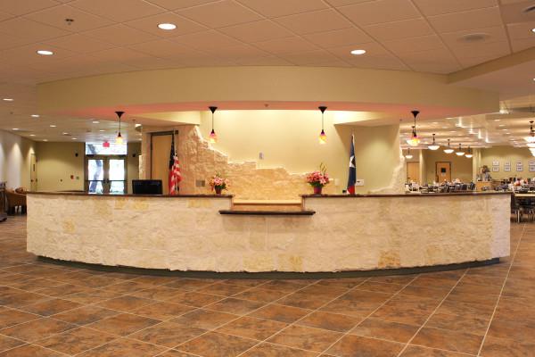 Kronkosky Center Help Desk Interior Photo